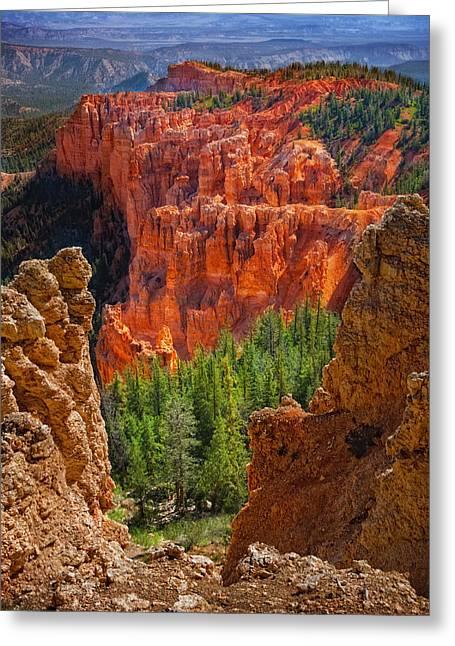 Bryce Canyon Vista Greeting Card by Bob Coates