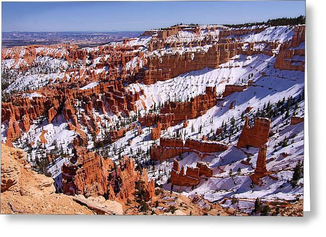 Bryce Canyon.last Snow Greeting Card by Viktor Savchenko