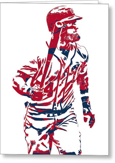 Bryce Harper Washington Nationals Pixel Art 10 Greeting Card