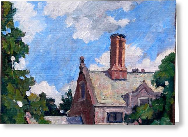 10x10 Greeting Cards - Bryn Mawr Rooftops Greeting Card by Thor Wickstrom