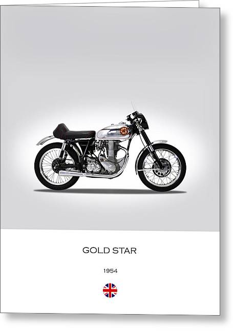 Bsa Gold Star 1954 Greeting Card by Mark Rogan