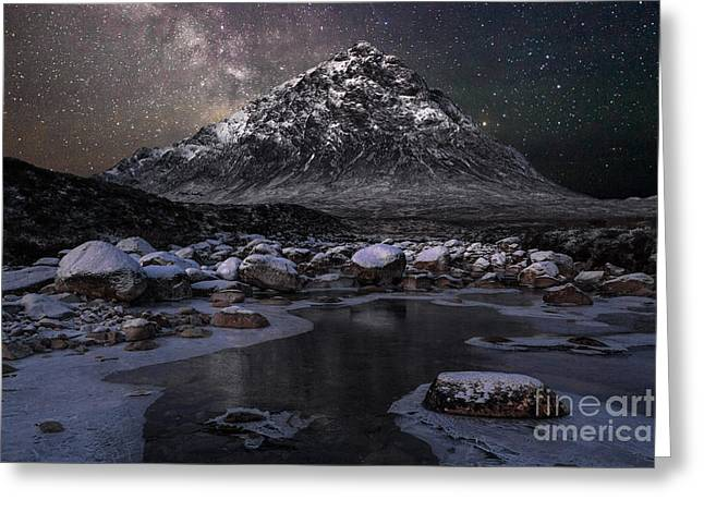 Buachaille And The Milkyway Greeting Card by John Farnan