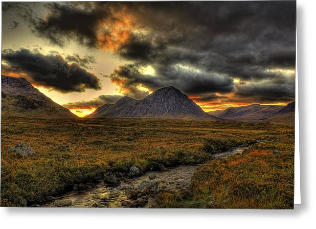 Buachaille Etive Mor Sunset-glencoe Greeting Card