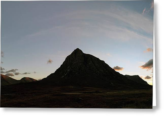 Greeting Card featuring the photograph Buachaille Panorama by Grant Glendinning