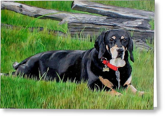 Bubba Greeting Card by Anita Carden
