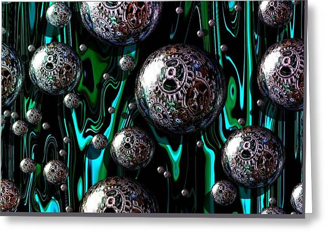 Bubble Abstract 1e Greeting Card