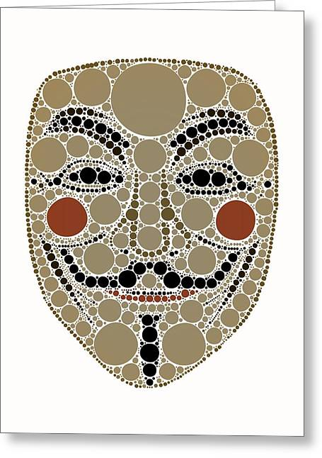 Bubble Art Anonymous Vendeta Greeting Card by John Springfield
