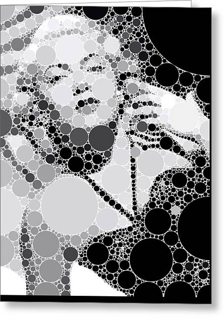 Bubble Art Lana Turner Greeting Card