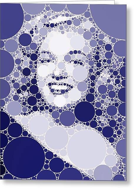 Bubble Art Marilyn Monroe Greeting Card