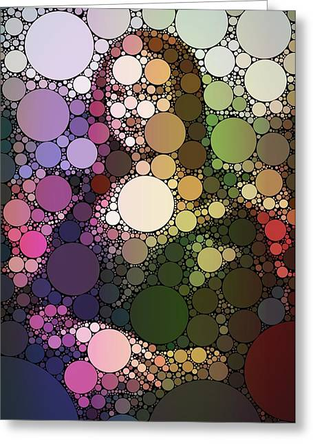 Bubble Art Mona Lisa Greeting Card