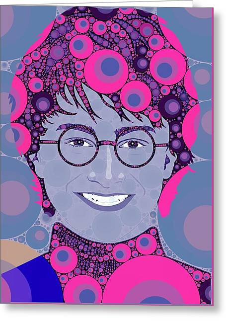 Bubble Art Potter Greeting Card
