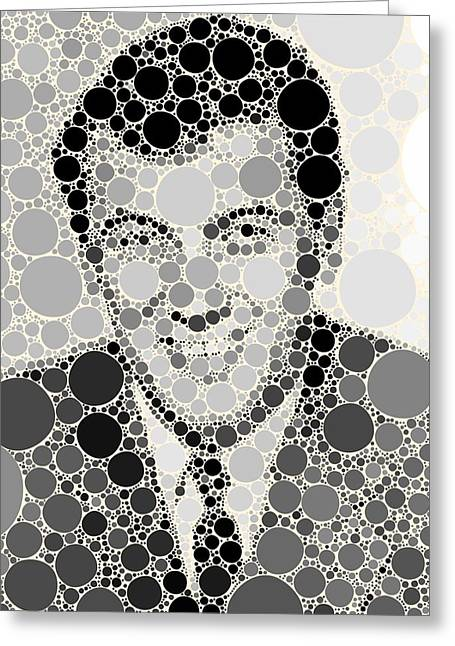 Bubble Art Rock Hudson Greeting Card
