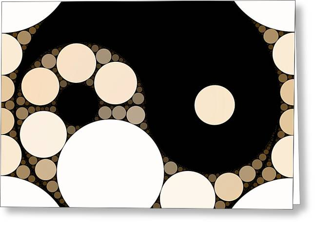 Bubble Art Yin Yang Greeting Card by John Springfield