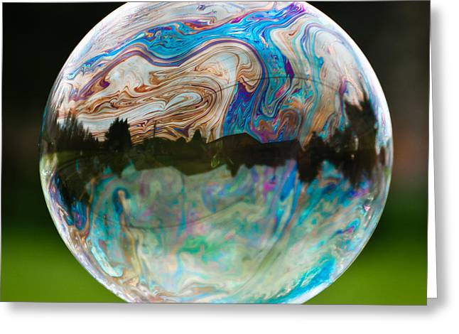 Bubble Greeting Card by Brian Bonham