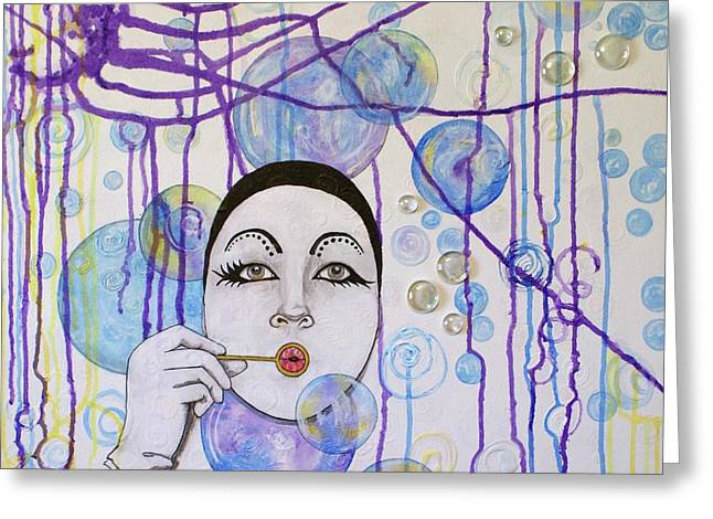Bubble Dreams Greeting Card by Jane Chesnut
