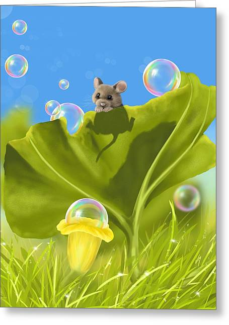 Bubble Games Greeting Card by Veronica Minozzi