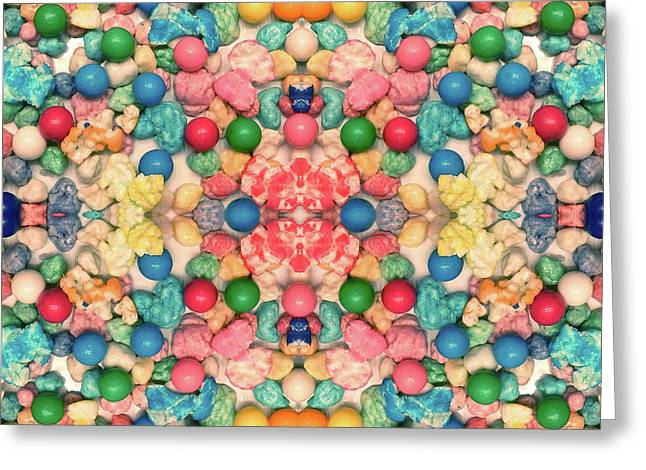 Greeting Card featuring the digital art Bubble Gum #9776 by Barbara Tristan