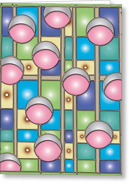 Bubble Gum Holidays Greeting Card by Marta Podkul
