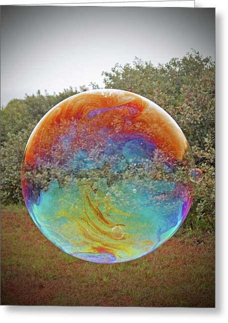 Bubble Landscape Greeting Card by George Ybarra