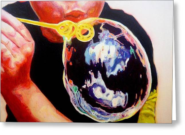 Bubble Greeting Card by Lizzie  Johnson