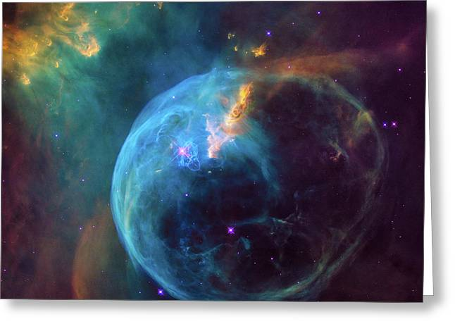 Bubble Nebula Greeting Card by Marco Oliveira
