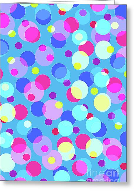 Bubble Pop Greeting Card by Louisa Knight