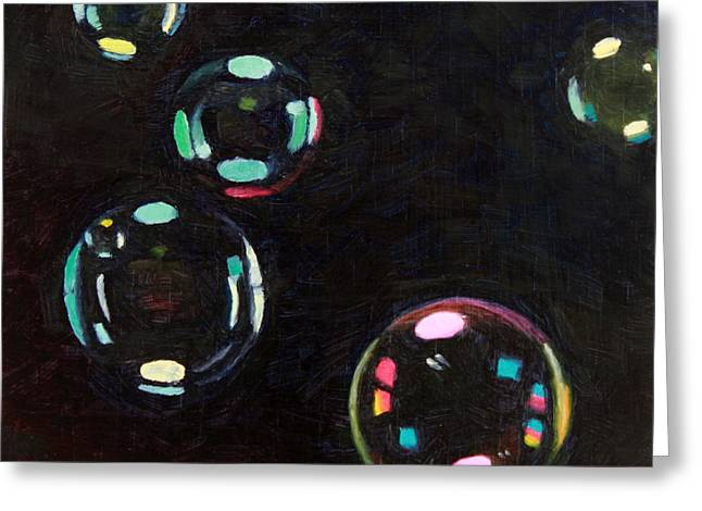 Bubble Study 01 Greeting Card by Guenevere Schwien