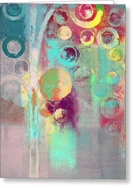 Greeting Card featuring the digital art Bubble Tree - 285r by Variance Collections