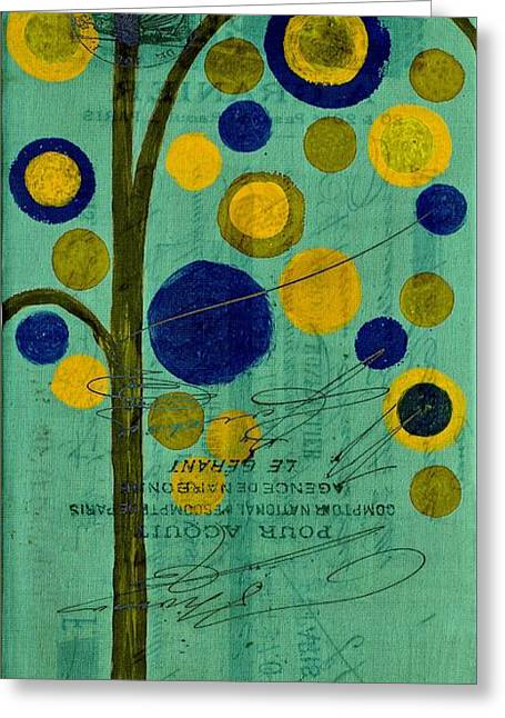 Bubble Tree - 42r1r Greeting Card by Variance Collections
