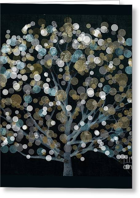 Bubble Tree Night Greeting Card by Mindy Sommers