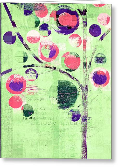 Greeting Card featuring the digital art Bubble Tree - 224c33j5l by Variance Collections