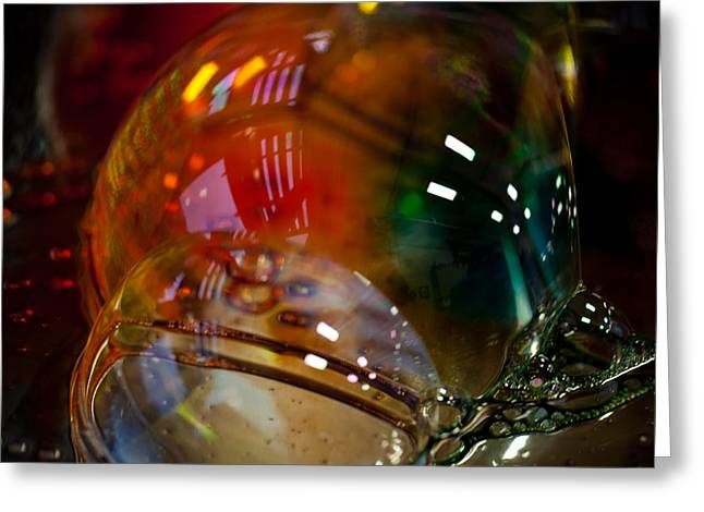 Bubbles Abstract 2 Greeting Card by David Patterson