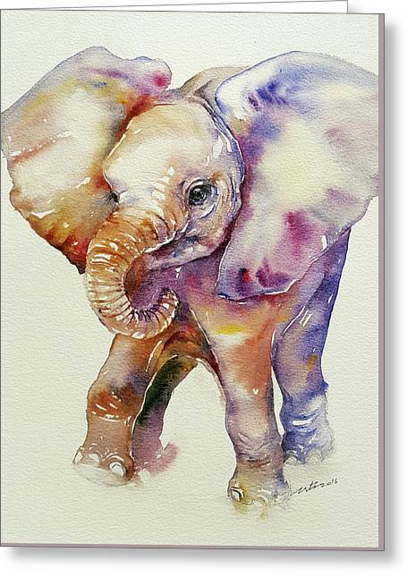 Bubbles Baby Elephant Greeting Card