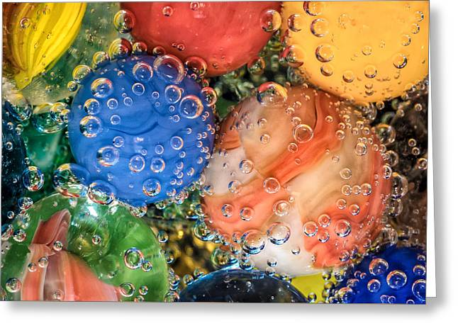 Bubbles Greeting Card by James Barber