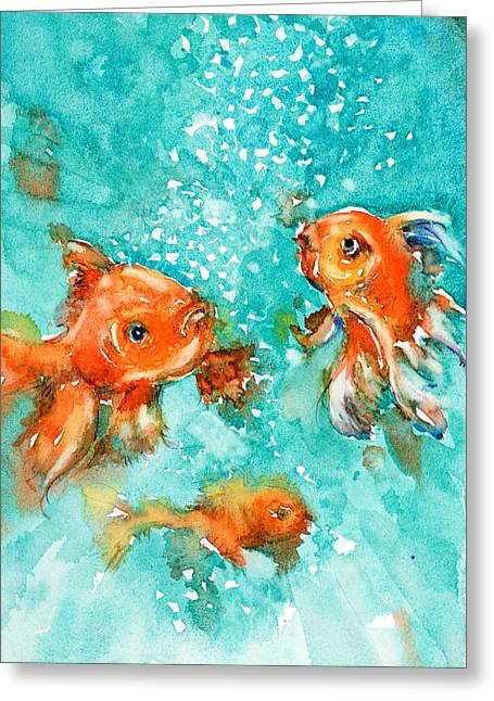 Bubbles Greeting Card by Judith Levins