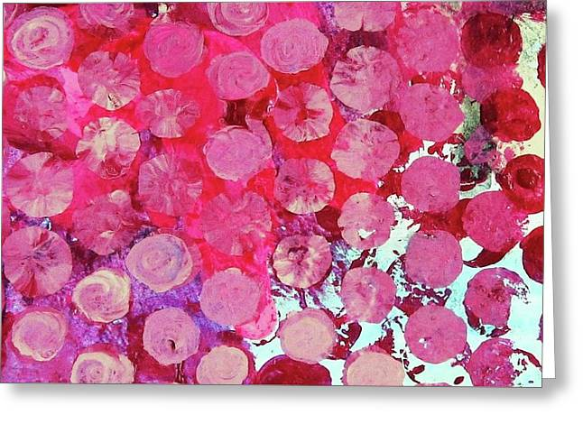 Greeting Card featuring the mixed media Bubbles by Mary Ellen Frazee
