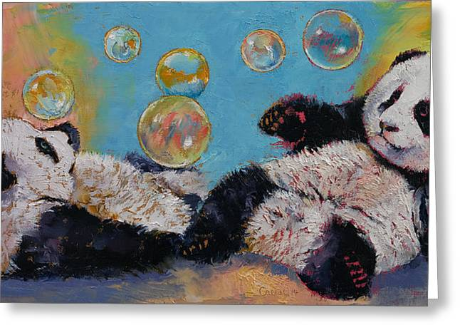 Bubbles Greeting Card by Michael Creese
