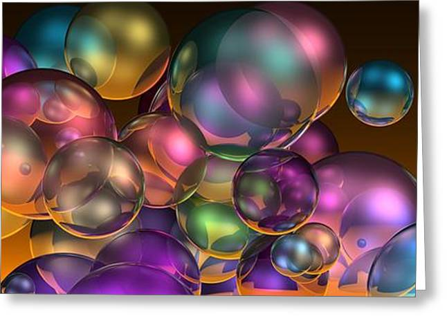 Bubbles Overall Greeting Card
