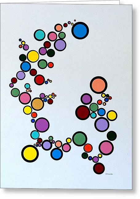 Bubbles2 Greeting Card by Thomas Gronowski