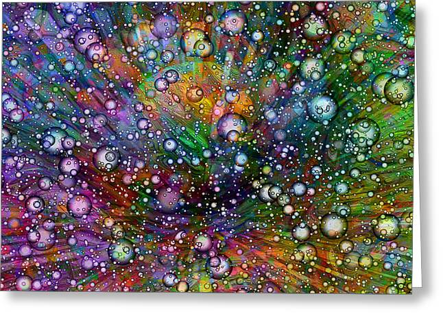 Bubblie Greeting Card by Jack Zulli