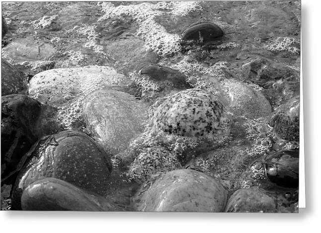 Bubbling Stones Greeting Card