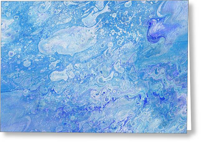 Bubbly Blues Greeting Card