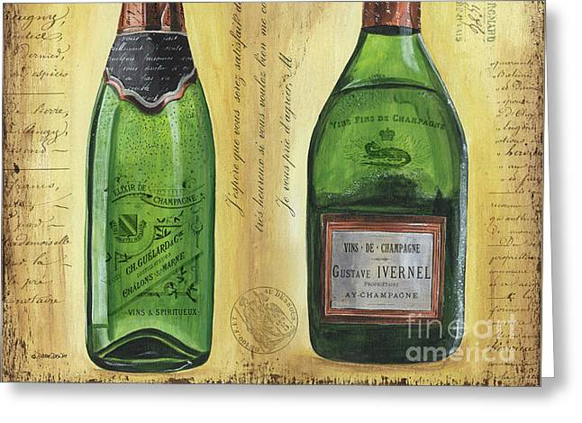 Bubbly Champagne 1 Greeting Card by Debbie DeWitt