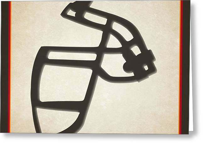 Buccaneers Face Mask Greeting Card