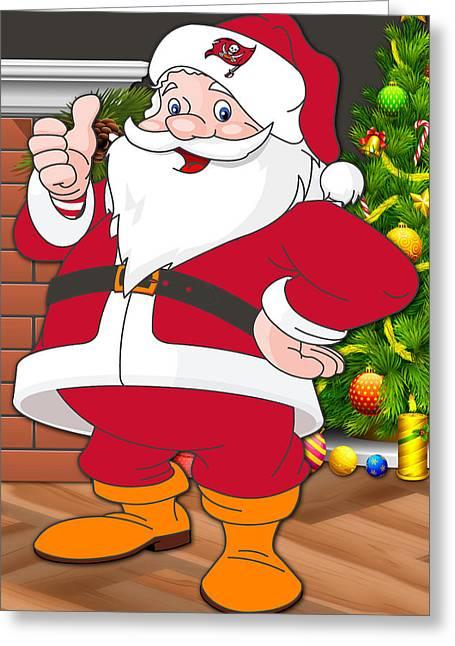 Buccaneers Santa Claus Greeting Card