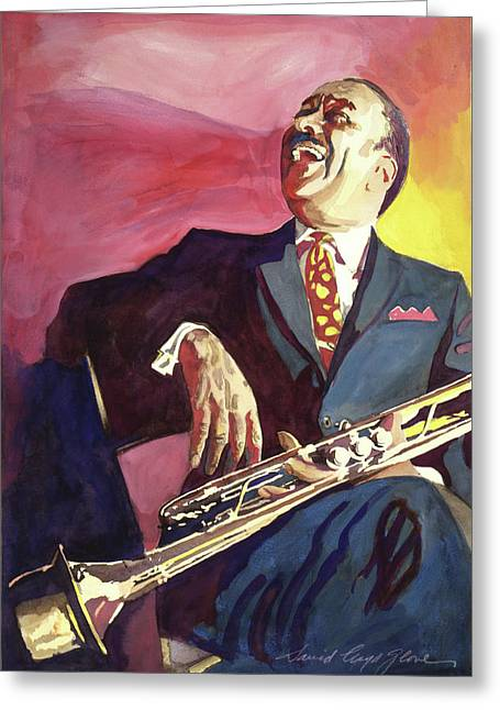 Buck Clayton Jazz Trumpet Greeting Card by David Lloyd Glover