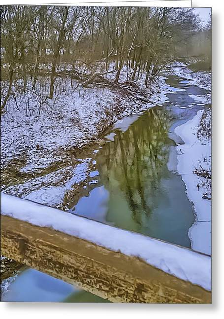 Buck Creek Greeting Card by Larry Bodinson