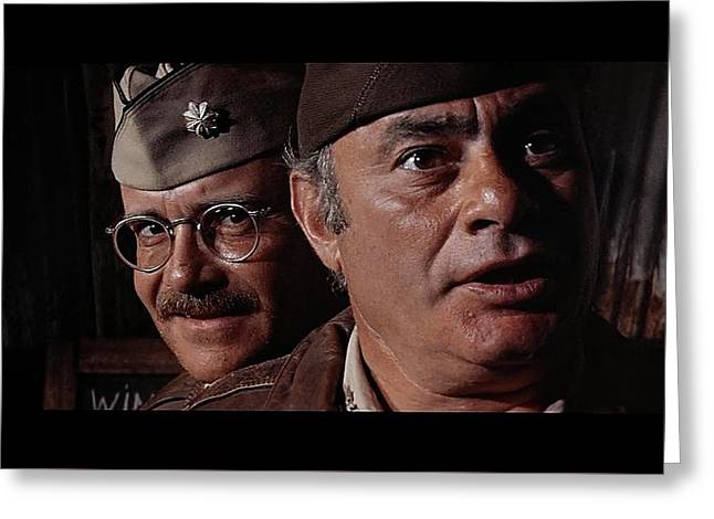 Buck Henry And Martin Balsam Publicity Photo Catch 22 1970 Greeting Card by David Lee Guss