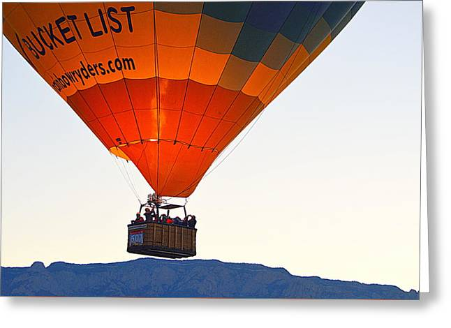 Greeting Card featuring the photograph Bucket List by AJ Schibig