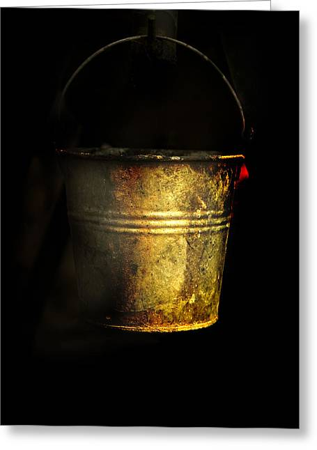Bucket One Greeting Card by Clyde Replogle